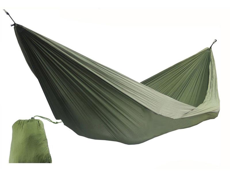 2 Person Leisure Double Camping Hammock Light Weight Heavy Duty Parachute Nylon Hammock