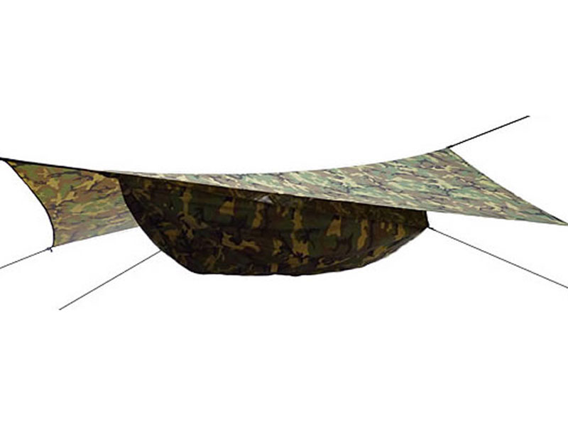 210T Nylon Portable Camouflage Parachute Hammock With Tarp Light Weight Heavy Duty Hammock