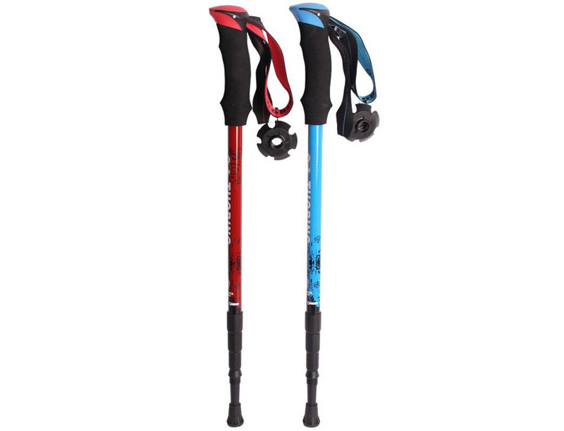 Carbon Fiber Trekking Pole Light Weight Adjustable Trekking Pole with EVA Foam Handle