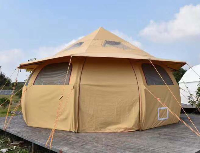 4 Person Easy To Install Polyester Cotton Luxury Hotel Bell Tent