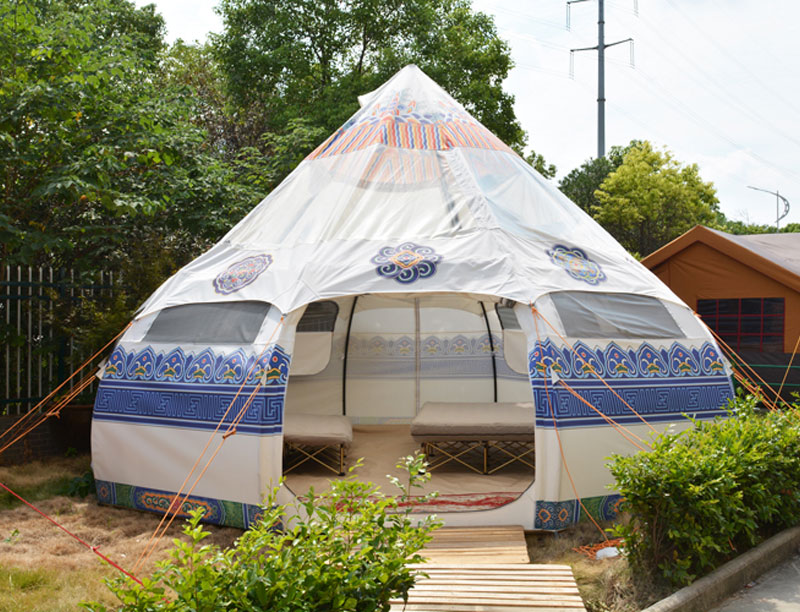 Snow Lotus Shape Family Leisure Camping Hotel Tent
