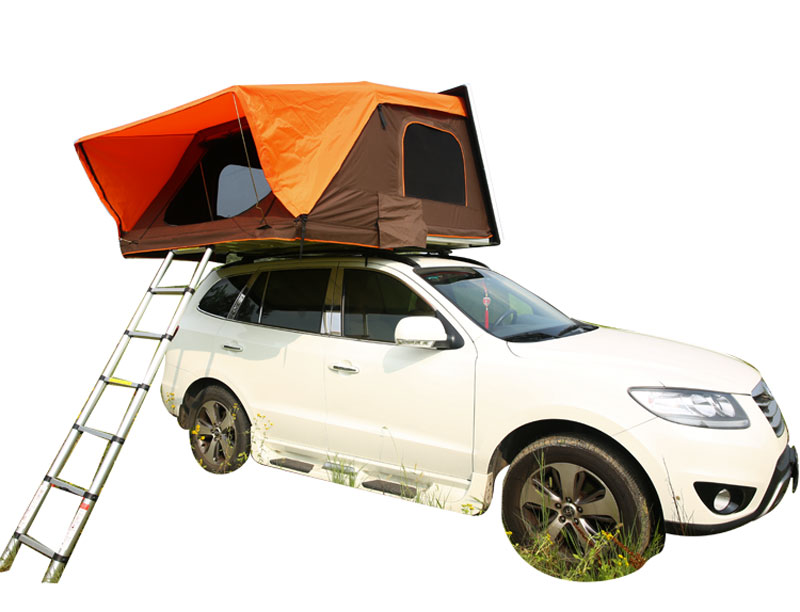 ABS Plastic One Side Open Style Hard Shell Roof Tent with Rack