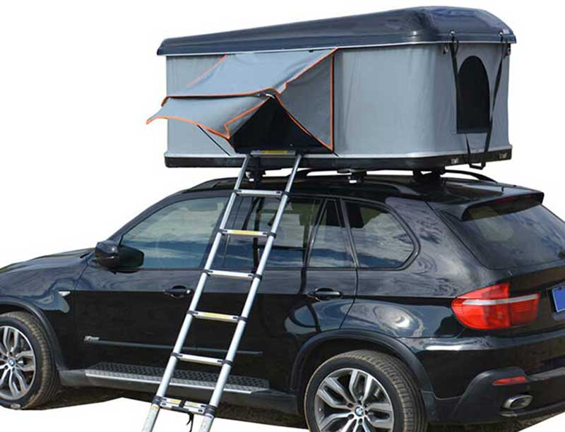 Full Size SUV Camping Roof Top Tent with Solar Panel Pop Up Roof Top Tent