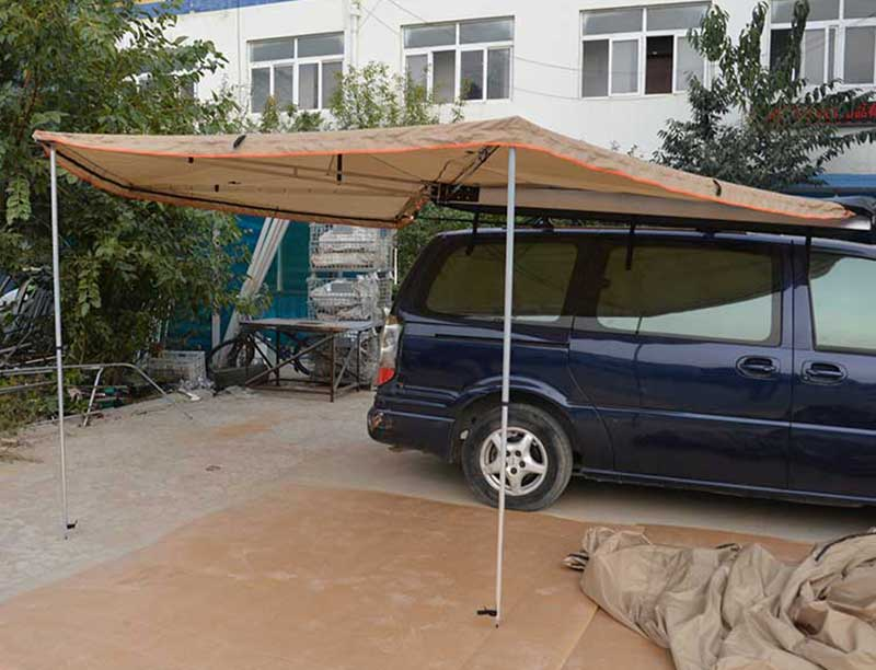 2 m 4 Season Family Travel Car Awning Tent 270 degree Awning Right and Left Side Awning
