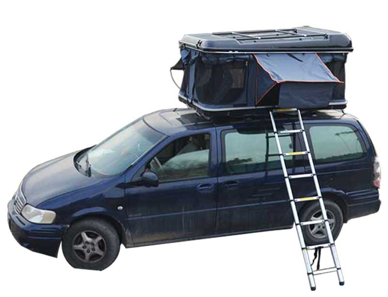 2 person Net yarn camping Car Hard Shell Roof Top Tent With Rack