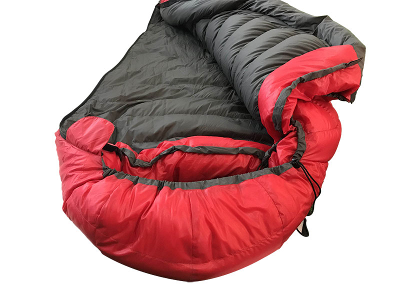 Red Recycled Fabric Sleeping Bag DownTek Goose Down Sleeping Bag