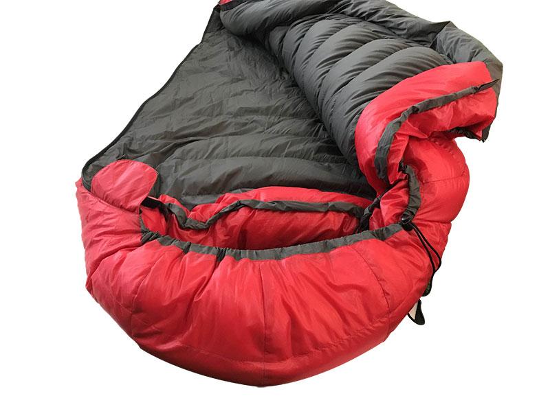 Red Recycled Fabric Sleeping Bag DownTek Goose Down Sleeping Bag